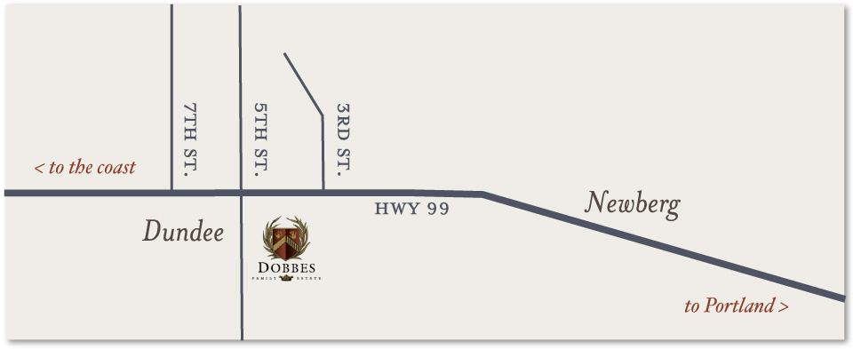 Map to Dobbes Family Estate